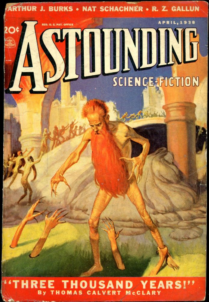 ASTOUNDING SCIENCE FICTION. ASTOUNDING SCIENCE FICTION. April 1938. . John W. Campbell Jr, No. 2 Volume 21.