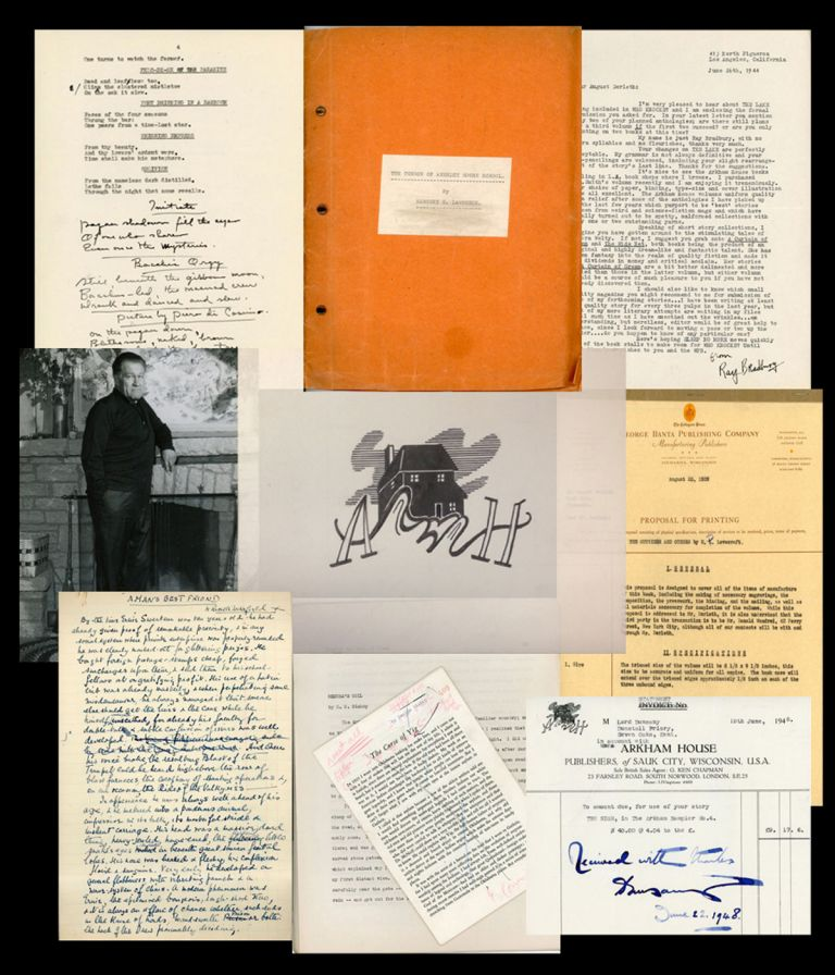 AN ARKHAM HOUSE ARCHIVE: An important archive of material from the from the files of August Derleth, publisher and editor. ARKHAM HOUSE, AUGUST DERLETH.