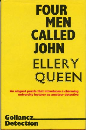 FOUR MEN CALLED JOHN. Ellery Queen, aka Jack Vance John Holbrook Vance