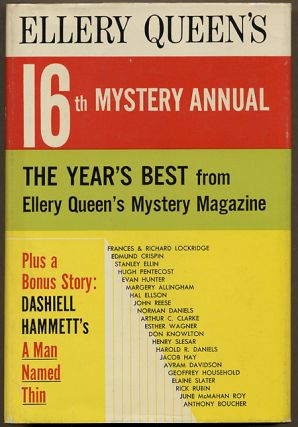 ELLERY QUEEN'S 16th MYSTERY ANNUAL: THE YEAR'S BEST FROM ELLERY QUEEN'S MYSTERY MAGAZINE....