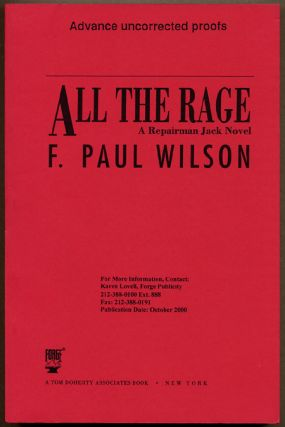 ALL THE RAGE: A REPAIRMAN JACK NOVEL. Paul Wilson, rancis