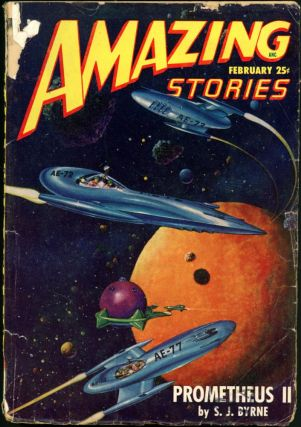 AMAZING STORIES. 1948. . AMAZING STORIES. February, Raymond A. Palmer, No. 2 Volume 22
