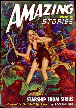 AMAZING STORIES. 1948. . AMAZING STORIES. August, Raymond A. Palmer, No. 8 Volume 22