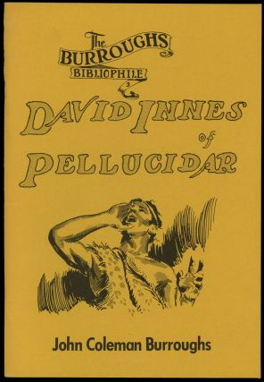 DAVID INNES OF PELLUCIDAR. PICTURIZED FROM THE NOVELS BY EDGAR RICE BURROUGHS. 269 PICTURES BY...
