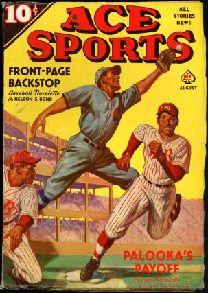 NEW SPORTS MAGAZINE. NELSON BOND, ACE SPORTS. August 1939, Volume 9 No. 4