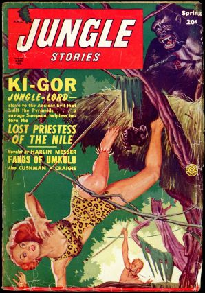 JUNGLE STORIES. JUNGLE STORIES. Spring 1950 . . Jerome Bixby, February-April, Volume 4 No. 10