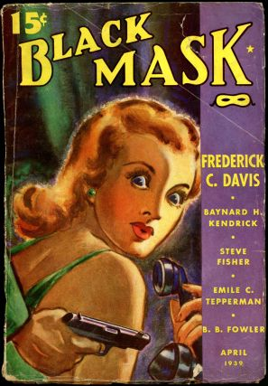 BLACK MASK. BLACK MASK. April 1939. . Ellsworth, No. 1 Volume 22, anny