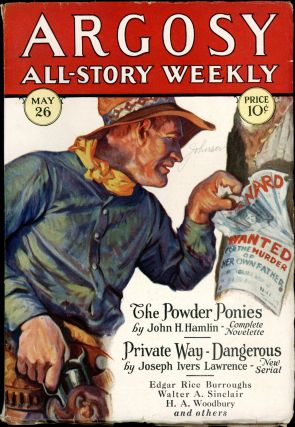 ARGOSY ALL-STORY WEEKLY. Edgar Rice Burroughs, 1928 ARGOSY ALL-STORY WEEKLY. May 26, No. 2 Volume...