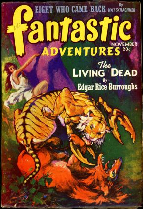 FANTASTIC ADVENTURES. Edgar Rice Burroughs, 1941. . FANTASTIC ADVENTURES. November, B. G. Davis,...
