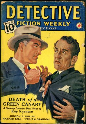 DETECTIVE FICTION WEEKLY. 1939 DETECTIVE FICTION WEEKLY. July 29, No. 1 Volume 130