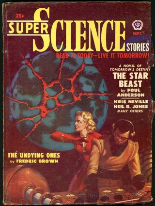 SUPER SCIENCE STORIES. JACK VANCE, 1950 SUPER SCIENCE STORIES. September, No. 2 Volume 7, L. RON...