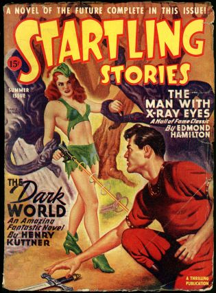 STARTLING STORIES. JACK VANCE, 1946. . Samuel Mines STARTLING STORIES. Summer, ed, #1 Volume 14.