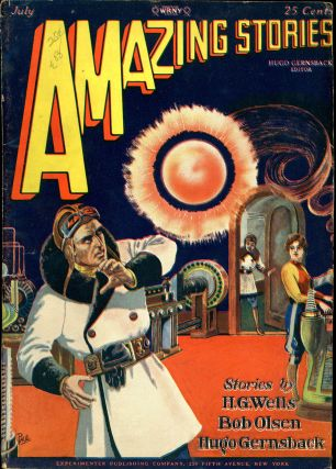 AMAZING STORIES. AMAZING STORIES. July 1928. ., Hugo Gernsback, No. 4 Volume 3