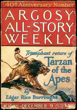 TARZAN AND THE GOLDEN LION in ARGOSY ALL-STORY WEEKLY [complete in seven issues]. Edgar Rice...