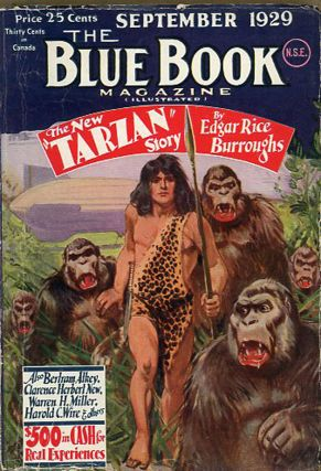 THE BLUE BOOK MAGAZINE. Edgar Rice Burroughs, 1929 - March THE BLUE BOOK MAGAZINE. September,...