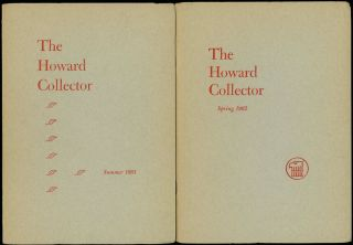 THE HOWARD COLLECTOR. [ALL PUBLISHED]. THE HOWARD COLLECTOR. Summer 1961 - Autumn 1973 ., Glenn...