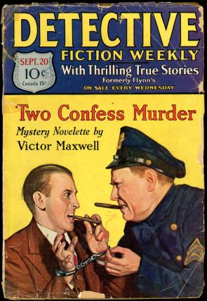 DETECTIVE FICTION WEEKLY. 1930 DETECTIVE FICTION WEEKLY. September 20, No. 2 Volume 53