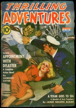 THRILLING ADVENTURES. DAVID GOODIS, THRILLING ADVENTURES. December 1942. . J. S. Williams, Volume...