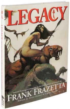 ICON: A RETROSPECTIVE... with LEGACY: SELECTED DRAWINGS AND OF FRANK FRAZETTA with TESTAMENT: A CELEBRATION OF THE LIFE AND ART OF FRANK FRAZETTA. 3 volumes.