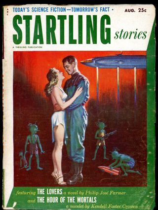 STARTLING STORIES. JACK VANCE. PHILIP JOSE FARMER, 1952. . Samuel Mines STARTLING STORIES....